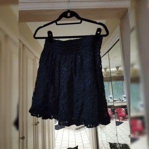 H&M Black lace stretch fit skirt size 8 New